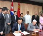 Kuba y China acuerdo