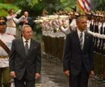 Raul y Obama recibimiento Palacio