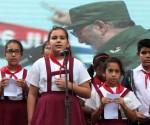 niños homenaje Fidel